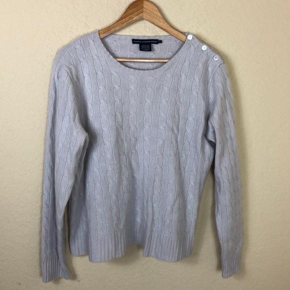 Ralph Lauren Sweaters - Ralph Lauren 💯 cashmere cableknit button sweater